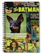 English Toy Terrier Art Canvas Print - Batman Movie Poster Spiral Notebook