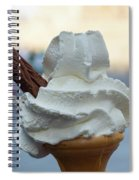 English Vanilla Ice Cream Cone And Flake Spiral Notebook