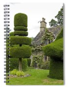 English Yew Topiary Spiral Notebook