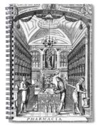Engraving Of Pharmacy, Geiger, 1651 Spiral Notebook