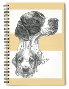 English Pointer And Pup Spiral Notebook
