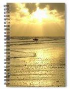 Enjoying The Beach At Sunset Spiral Notebook