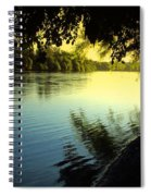 Enjoying The Scenic Beauty Of The Sacramento River Spiral Notebook