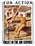 Enlist In The Air Service Spiral Notebook