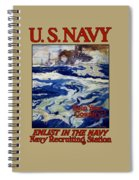 Enlist In The Navy - Help Your Country Spiral Notebook