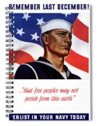 Enlist In Your Navy Today - Ww2 Spiral Notebook