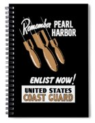 Enlist Now - United States Coast Guard Spiral Notebook