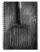 Ensilage Fork Up On Plywood In Bw 66 Spiral Notebook