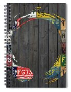 Enso Symbol Recycled Vintage Michigan License Plate Art Spiral Notebook