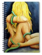 Entangled Female Figure  Spiral Notebook