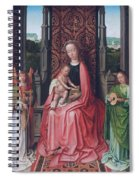 Enthroned Virgin And Child, With Angels Spiral Notebook