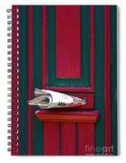 Entrance Door And Newspaper Spiral Notebook
