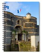 Entrance Gate Of Angers Castle Spiral Notebook