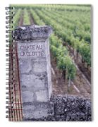 Entrance Of A Vineyard, Chateau La Spiral Notebook