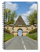 Entrance To Burghley House Spiral Notebook