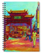 Entrance To Chinatown Spiral Notebook