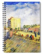 Entrance To Paris With A Horsecar Spiral Notebook