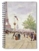 Entrance To The Exposition Universelle Spiral Notebook