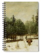 Entrance To The Forest In Winter Spiral Notebook