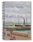Entrance To The Port Of Le Havre And The West Breakwaters Spiral Notebook