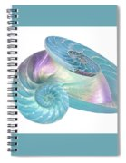Entwined Nautilus Shells On White Spiral Notebook