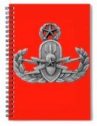 Eod Master Badge Emblem On Red Spiral Notebook