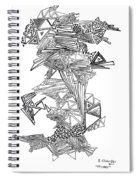Epitaxy Ink Drawing By Regina Valluzzi Spiral Notebook