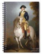 Equestrian Portrait Of George Washington Spiral Notebook
