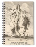 Equestrian Portrait Of Louis Xiii Of France Spiral Notebook