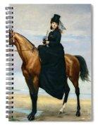 Equestrian Portrait Of Mademoiselle Croizette Spiral Notebook