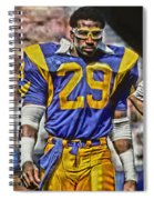 Eric Dickerson Los Angeles Rams Art Spiral Notebook