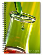 Erlenmeyer Flask In Science Research Lab Spiral Notebook