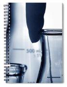 Erlenmeyer Flasks In Science Research Lab Spiral Notebook