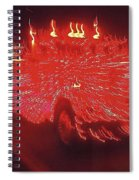 Ernst Haas Homage Fire Truck Electric Lights Xmas Parade Casa Grande Az 2001 Spiral Notebook