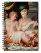 Eros And Psyche Spiral Notebook