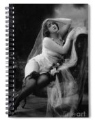 Erotic Photo Of A Model Wearing Lingerie Stockings And Garters Spiral Notebook