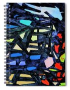 Escape Of The Blue-headed Capricorn From The Labyrinths Of Darkness Spiral Notebook