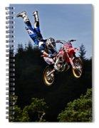 Escaping Motorbike Spiral Notebook