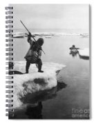 Eskimo Fishermen Spiral Notebook