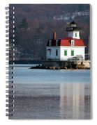 Esopus Lighthouse In December Spiral Notebook