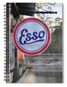Esso Sign  Spiral Notebook