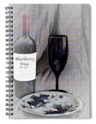 Est 2017 Blackberry Wine Spiral Notebook