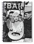 Estelle Winwood Marilyn Monroe Clark Gable Eli Wallach Montgomery Clift The Misfits Reno Nevada 1961 Spiral Notebook