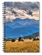 Estes Park From Glen Haven 3 Spiral Notebook