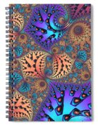 Etched Leaves Spiral Notebook