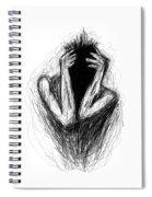 Etching 17 - Midnight Spiral Notebook
