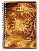 Eternity Mandala Golden Zebrawood Spiral Notebook