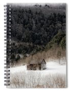 Ethereal Barn In Winter Spiral Notebook
