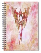 Ethereal Flight Contemporary Minimalism Spiral Notebook