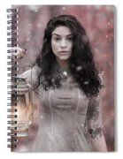 Ethereal Snow Beauty Spiral Notebook